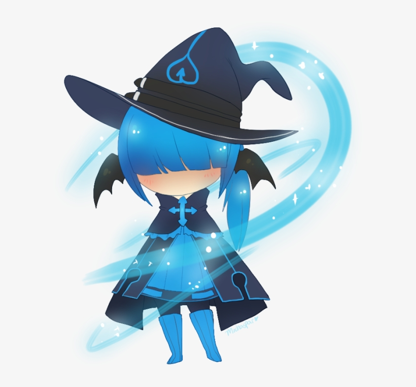 Wizard Hat Chibi Anime Pictures Png Wizard Hat Chibi - Anime Chibi Wizard, transparent png #1482419