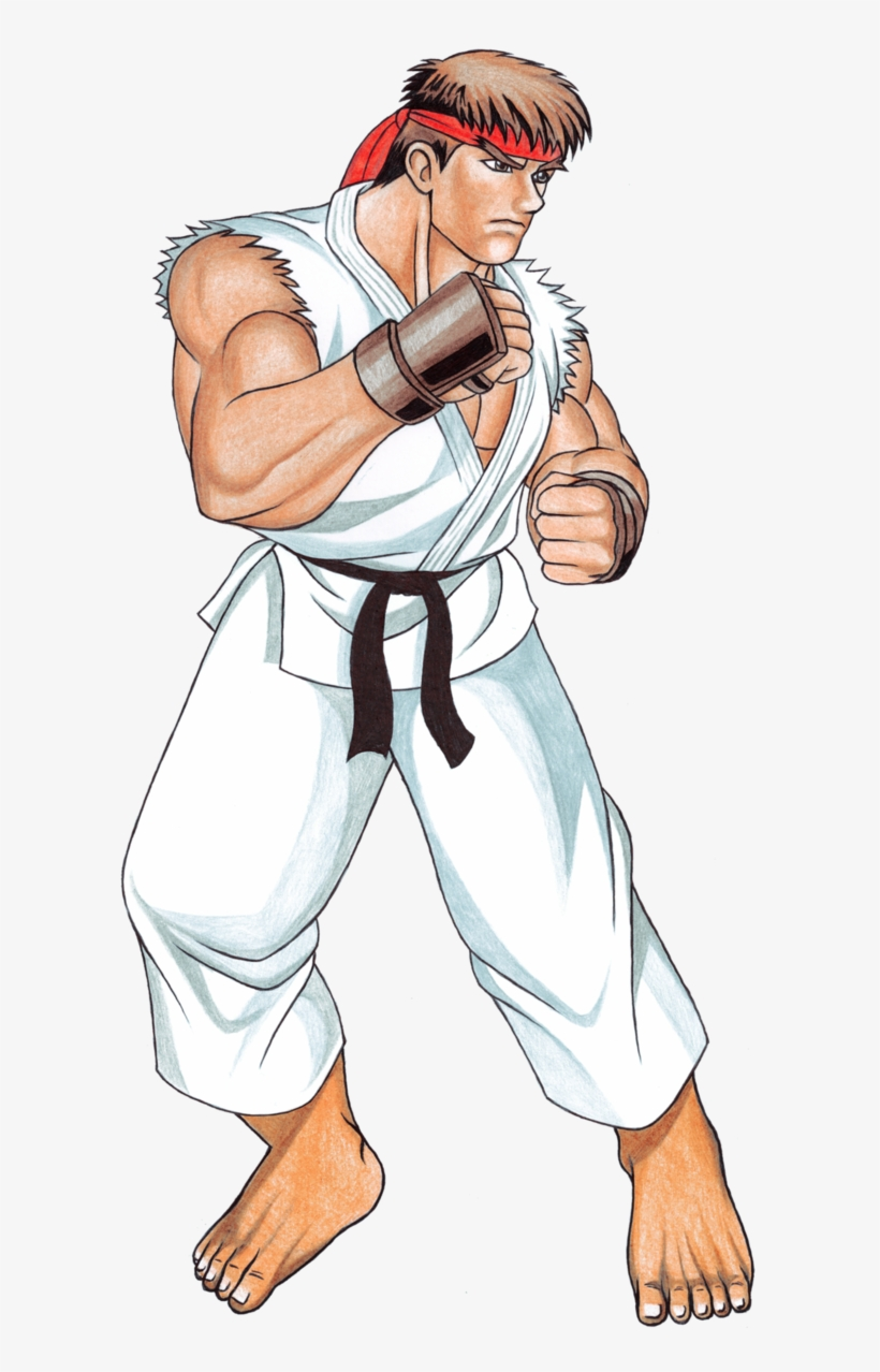 Street Fighter 2 Ryu - Ryu Street Fighter Stance, transparent png #1482810