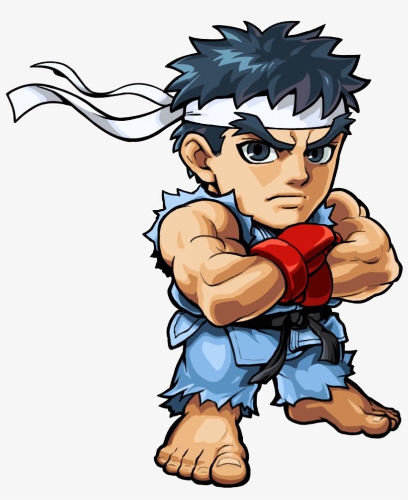 Ryu Png Free Download - Ryu Street Fighter Cartoon, transparent png #1482862