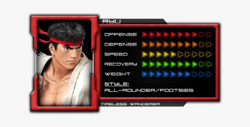 Ryu - Super Smash Bros. For Nintendo 3ds - Ryu, transparent png #1483259