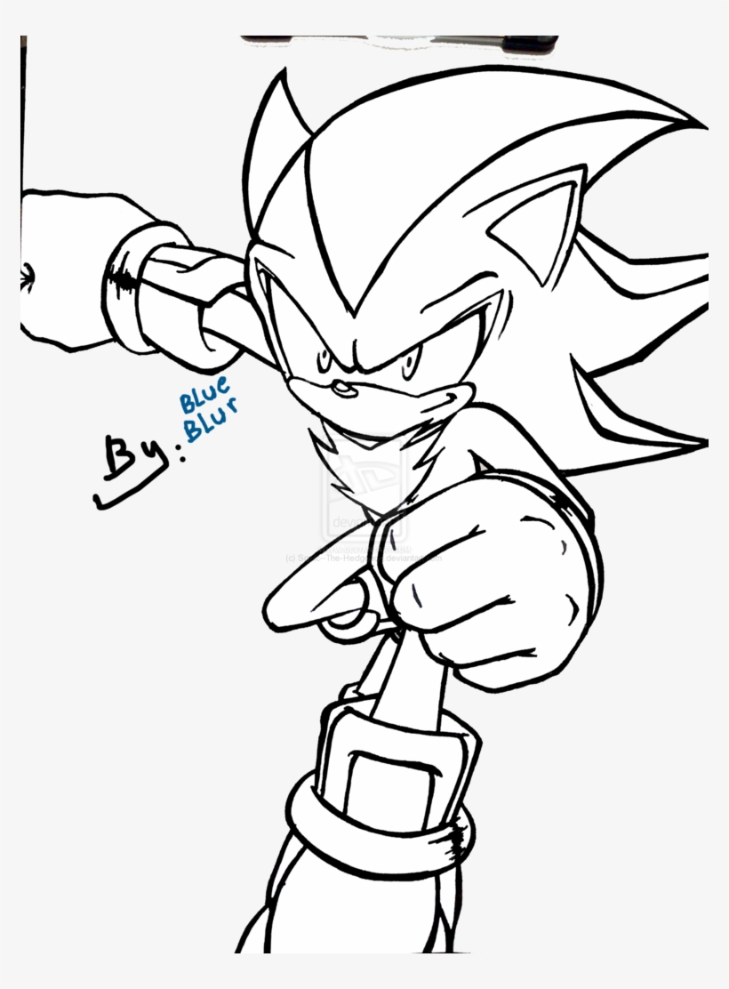 Shadow The Hedgehog Coloring Pages Paint By New Shadow The Hedgehog Color Pages Free Transparent Png Download Pngkey