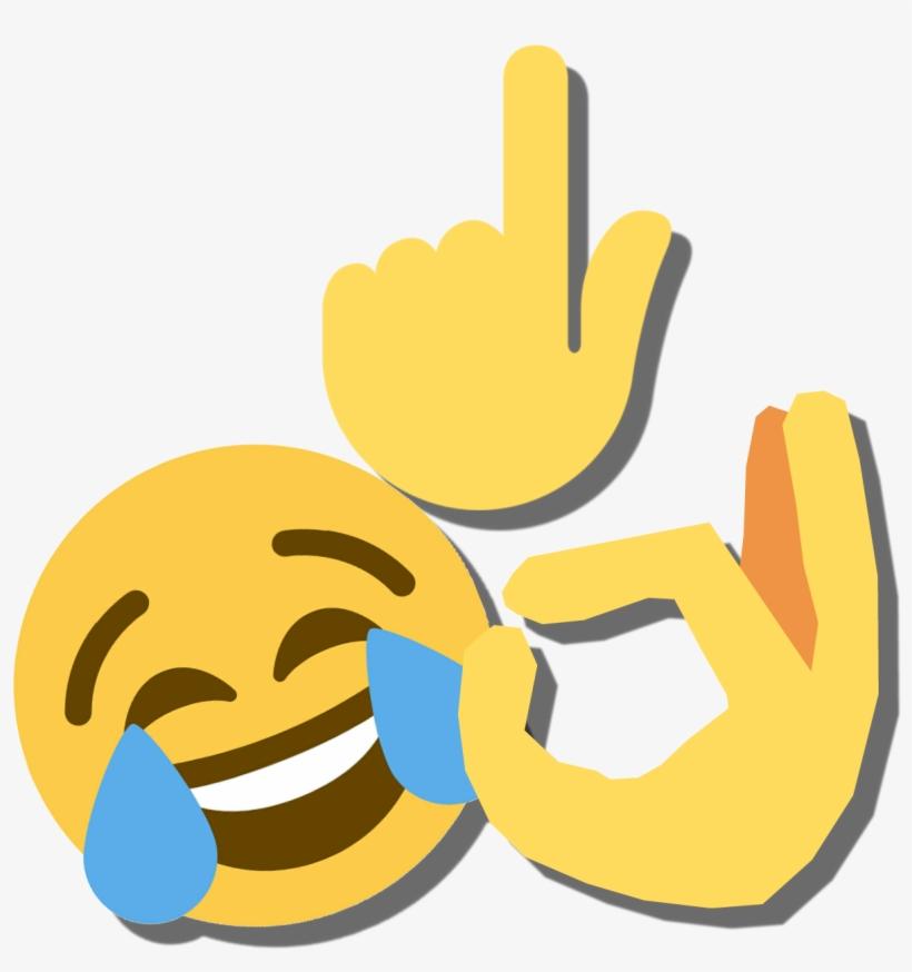 Discord Emoji - Laughing Crying Tears Emoji Tee Shirt Group Couple, transparent png #1485433