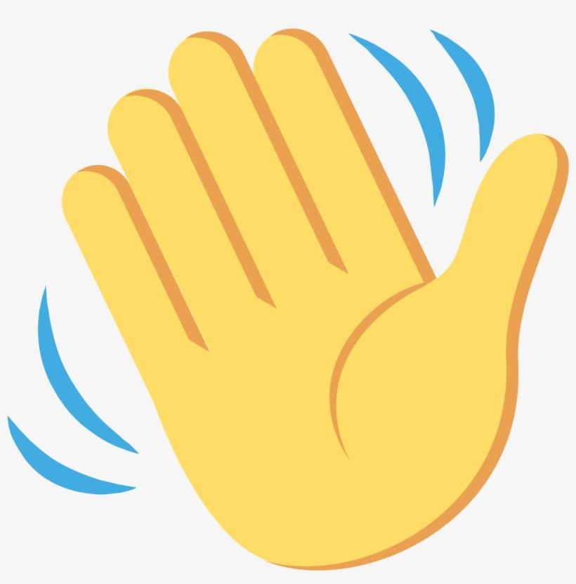 Open - Waving Hand Emoji Svg - Free Transparent PNG ...