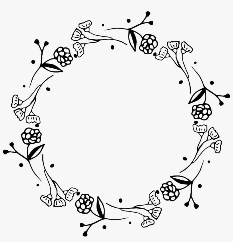 Black and white wreath