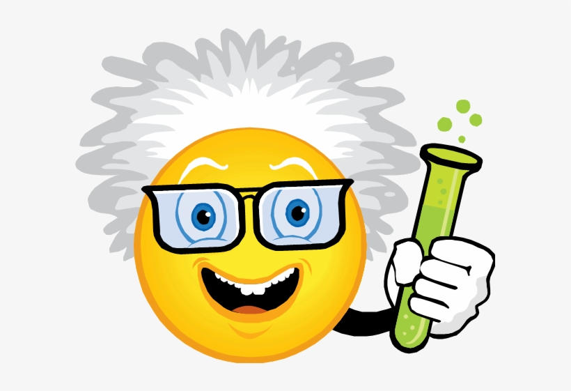 Emoji Clipart Science - Mad Science - Free Transparent PNG