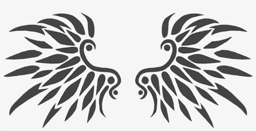 Black Wings Tattoo Design 01 By Xarachnofreakx-d7wmbkb - Tattoo Design Wings Png, transparent png #1486609