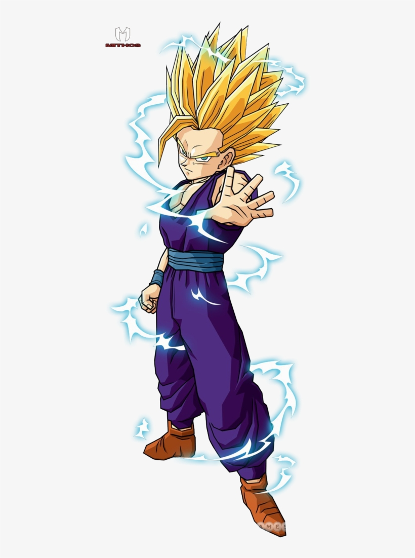 Teengohan2 Super Saiyan - Dragon Ball Z Characters Gohan Ssj2, transparent png #1487484