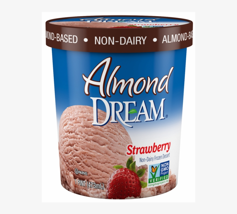Strawberry - Almond Dream Ice Cream Toffee, transparent png #1488325