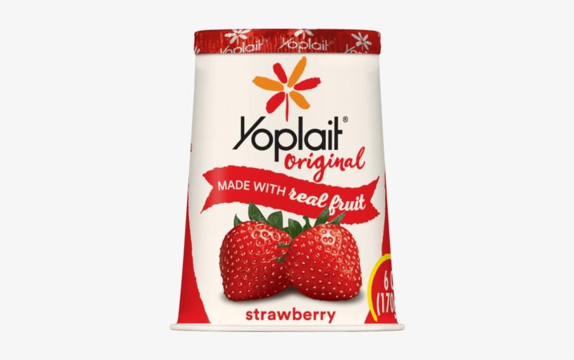 Srawberry - Yoplait Strawberry Yogurt, transparent png #1488358
