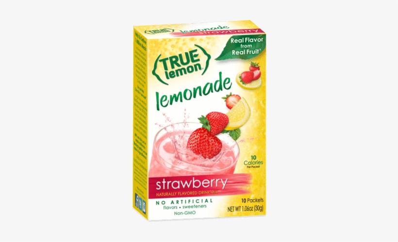 True Lemon Strawberry Lemonade Box - True Lemon Raspberry Lemonade, transparent png #1488398