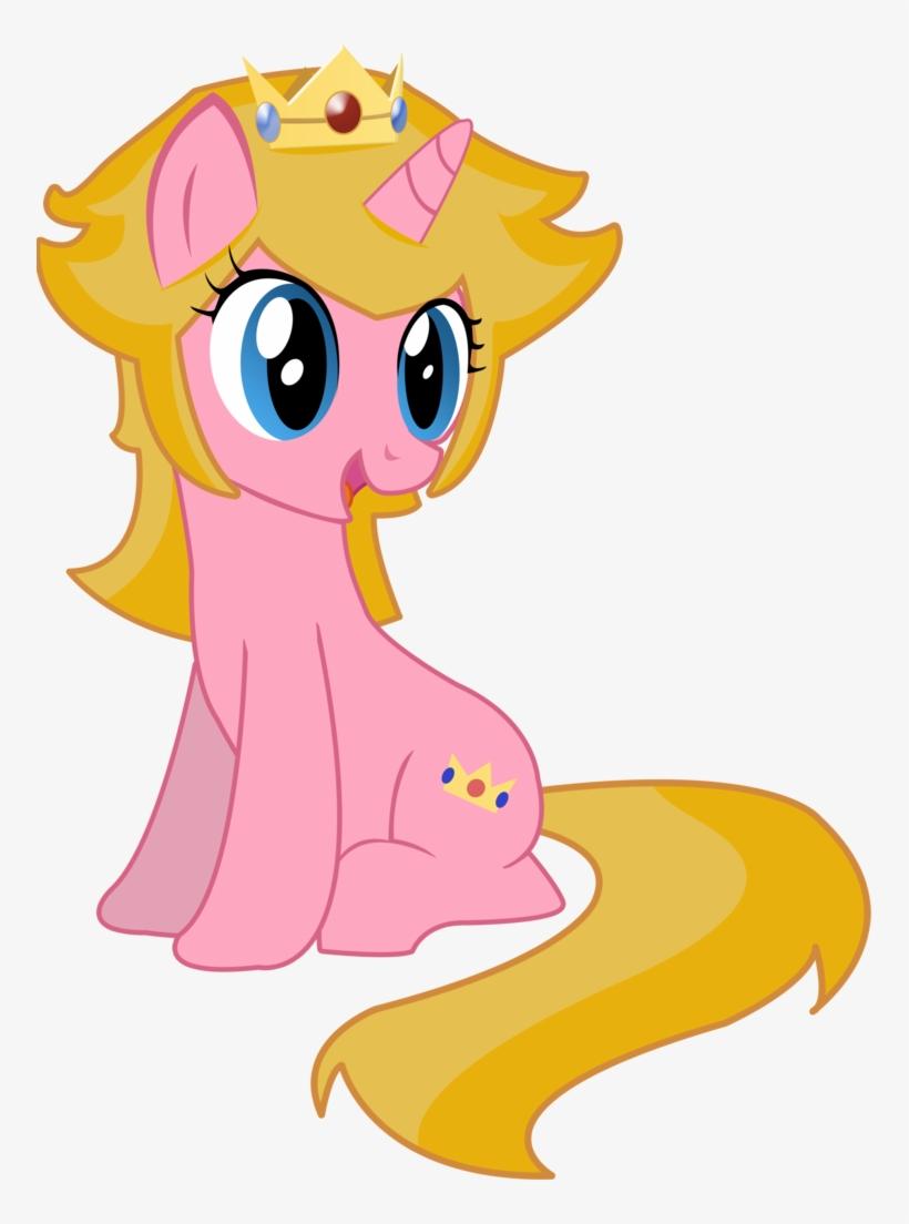 Serginh, Female, Mare, Mario, Nintendo, Ponified, Pony, - Princess Peach As A Pony, transparent png #1488866