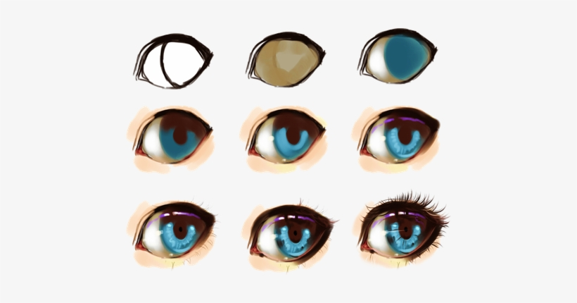 Eye Step By Step By Ryky - Digital Painting Anime Eye, transparent png #1489048