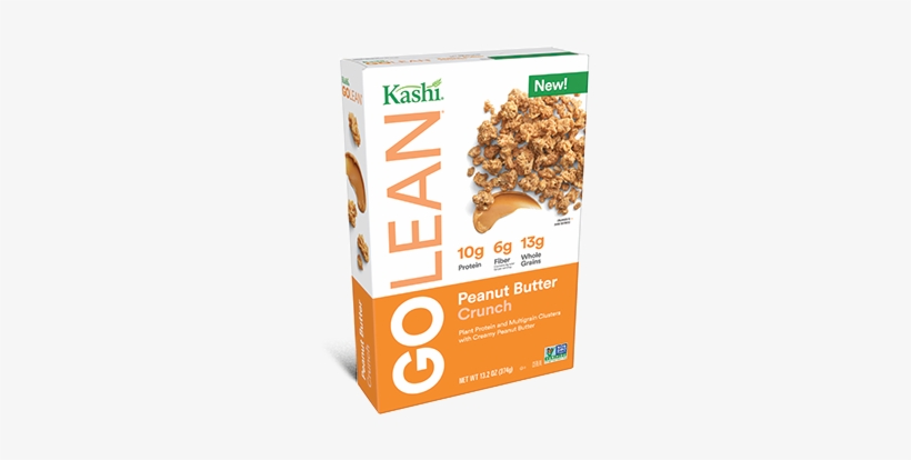 Kashi® Golean Peanut Butter Crunch Cereal - Go Lean Peanut Butter Crunch Cereal, transparent png #1489609