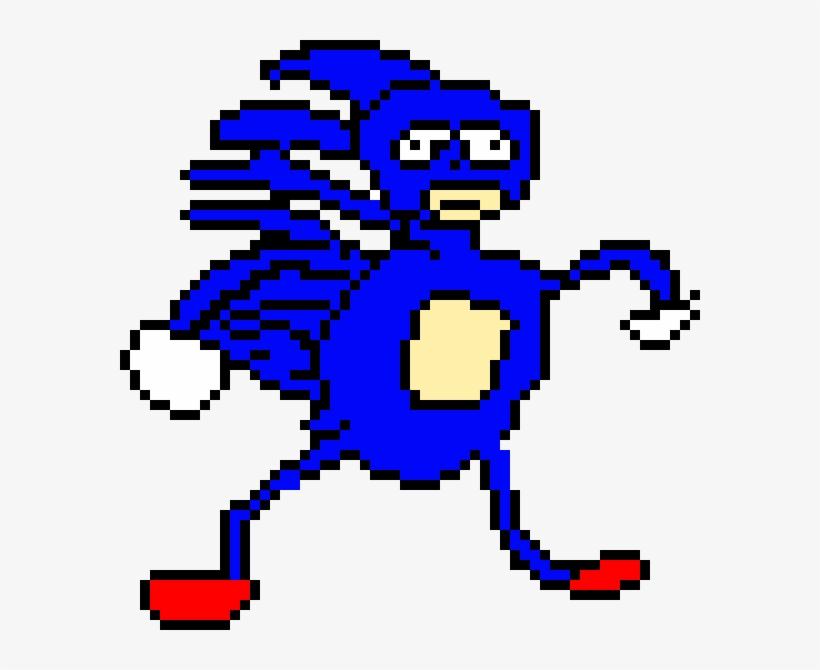 Sanic Sanic The Hedgehog Pixel Art Free Transparent Png