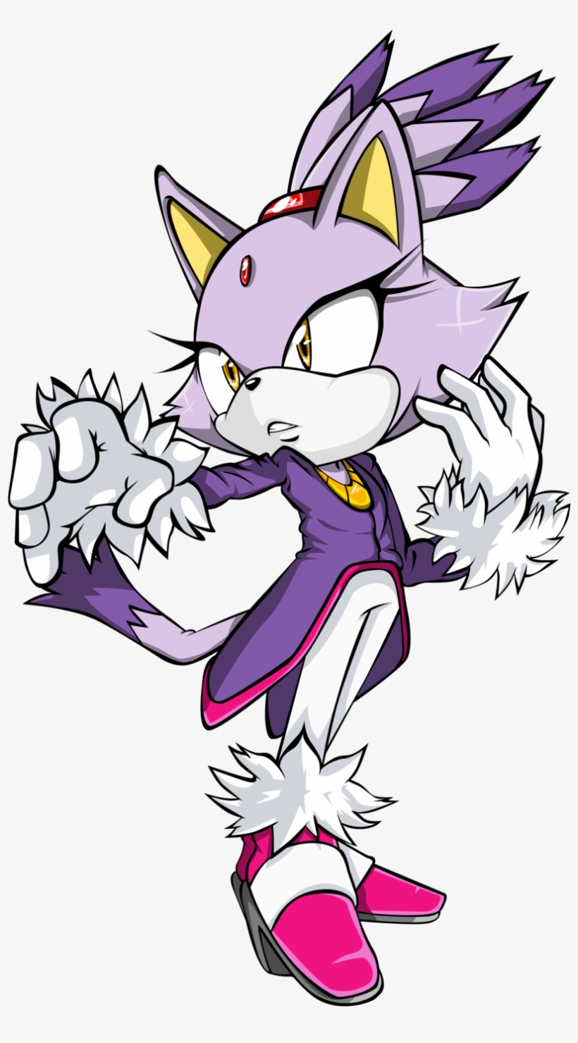 Cat Sonic The Hedgehog Sonic Forces Drawing Yuko Omori - Blaze The Cat Transparent, transparent png #1491353
