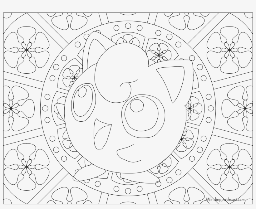 #039 Jigglypuff Pokemon Coloring Page - Pokemon Adult Coloring Pages, transparent png #1493028