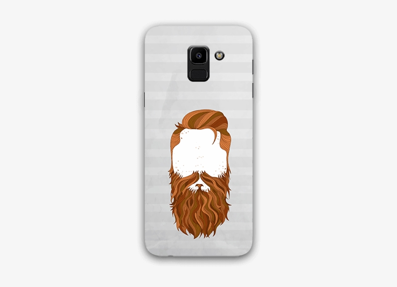 Beard Face Samsung J6 Mobile Case - Trust Me I Have A Beard Oval Ornament, transparent png #1495075