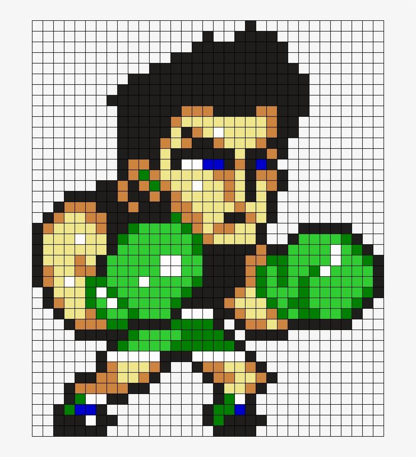 Little Mac Perler Bead Pattern / Bead Sprite - Little Mac Pixel Art, transparent png #1497022