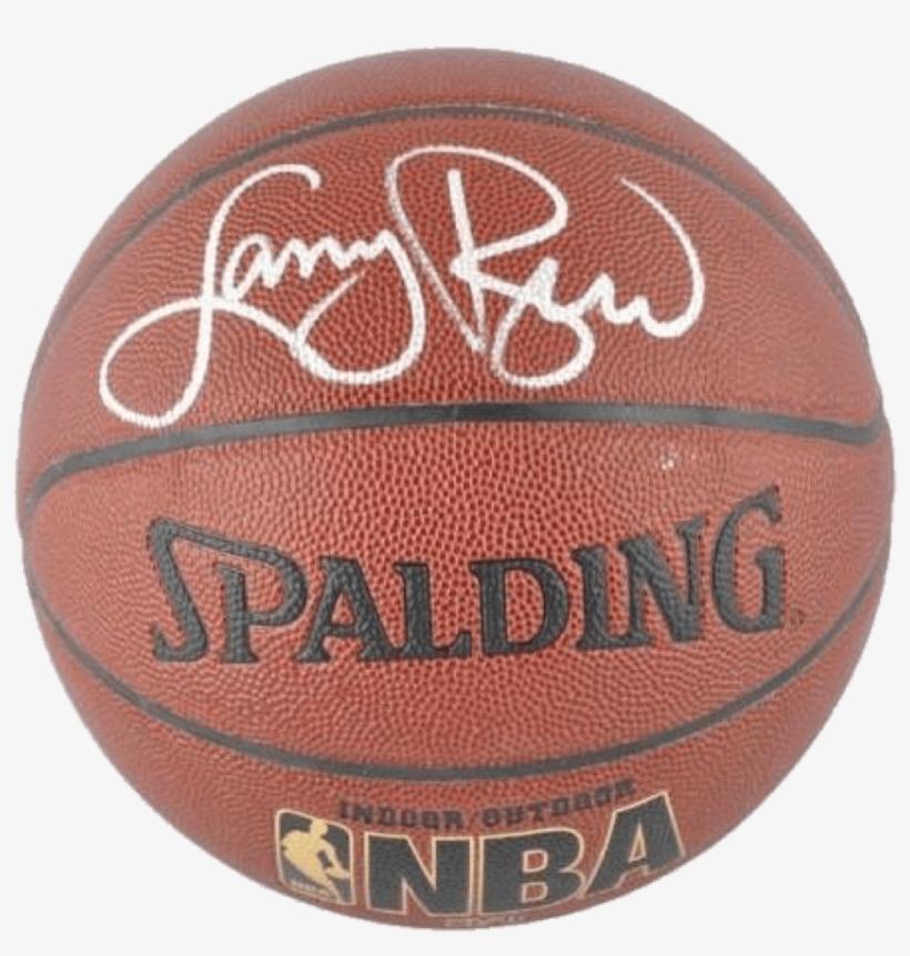 Larry Bird Boston Celtics Nba Authentic Autographed - Larry Bird Autographed Basketball - I/o, transparent png #1497045