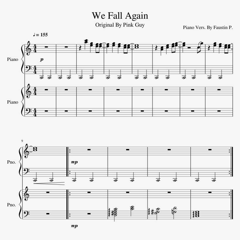 Uploaded On May 5, - Thomas Sanders Things We Used To Share Sheet Music, transparent png #1497489