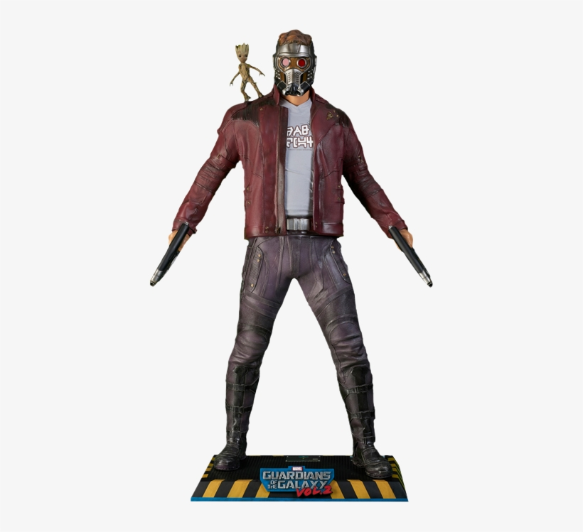 Star Lord With Baby Groot - Star Lord Life Size, transparent png #1497633