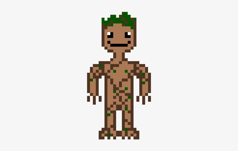 Baby Groot Pixel Art Free Transparent Png Download Pngkey