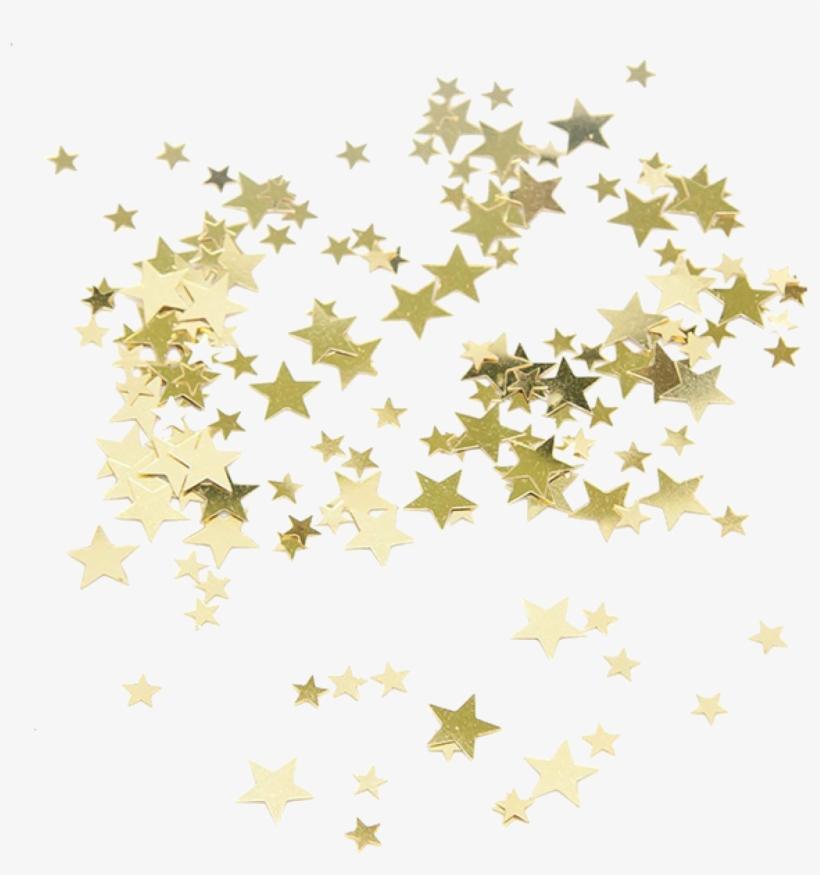 Confetti stars. Gold clip art transprent