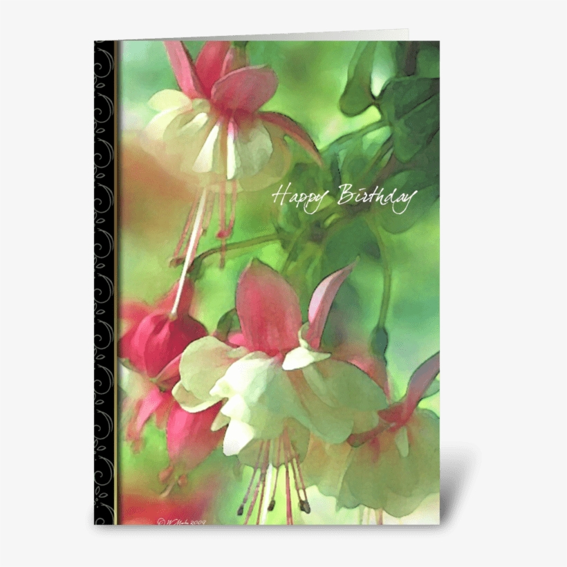 Spring Blossoms Birthday Card Greeting Card - Blossoms-missing You Greeting Card, transparent png #150618