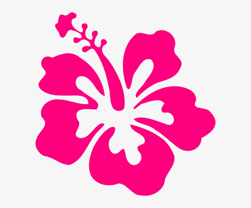 Hibiscus Clipart Small Pink Hibiscus Flower Clipart Free