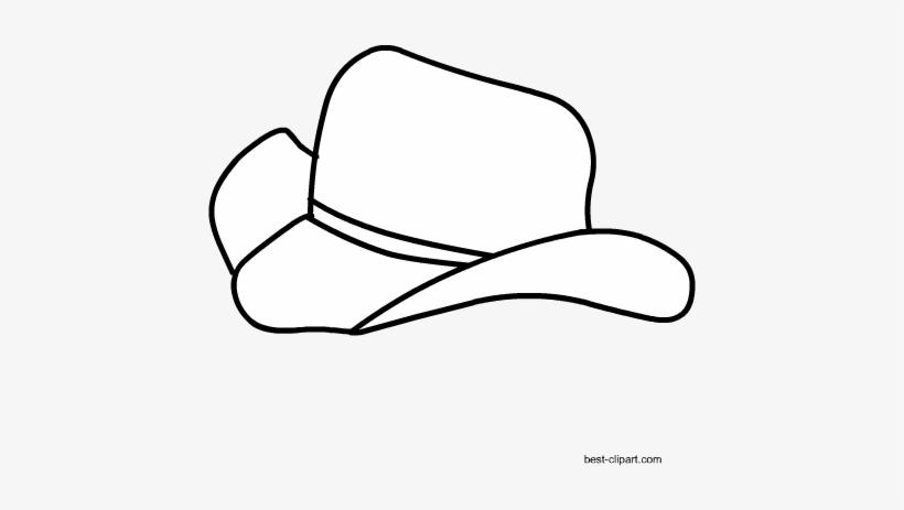 d500898bdc5 Black And White Cowboy Hat Clipart Free - Cowboy Hat - Free ...