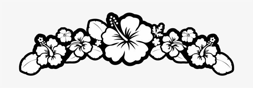 Flower Black And White Hibiscus Black And White Clipart Border