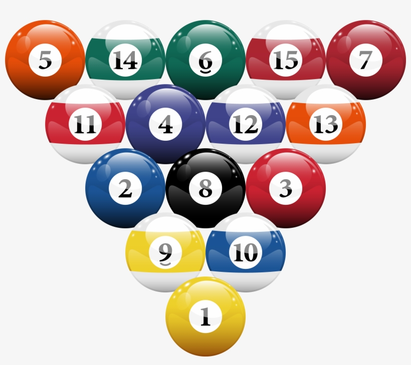 Clipart Ball Pool Table   Pool Billiard Balls
