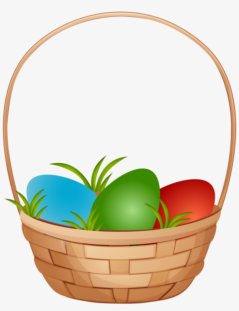 Easter Egg Basket Png, transparent png #154441