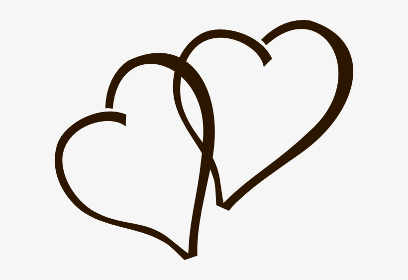 Deep Brown Hearts Clip Art At Clker - Two Hearts Clipart Wedding, transparent png #154546
