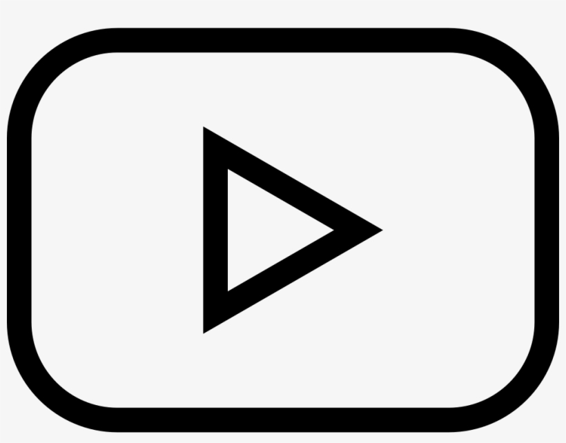 Youtube Play Button Outlined Social Symbol - Youtube Play Buttom Icon Transparent, transparent png #154885