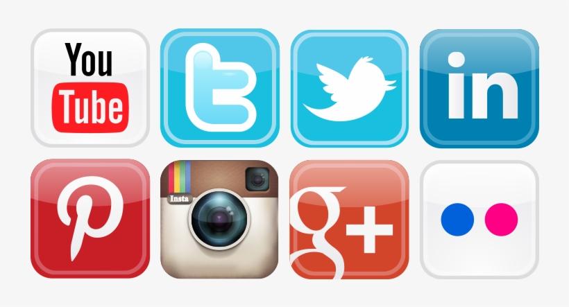 Social Media Icons Png Vector - Social Media Graphics Icons, transparent png #155626