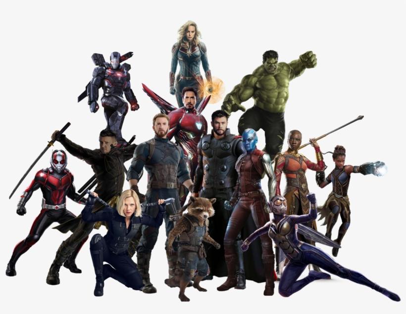 Avengers Team, Avengers Memes, Captain Marvel, Marvel - Avengers 4 Png, transparent png #155868