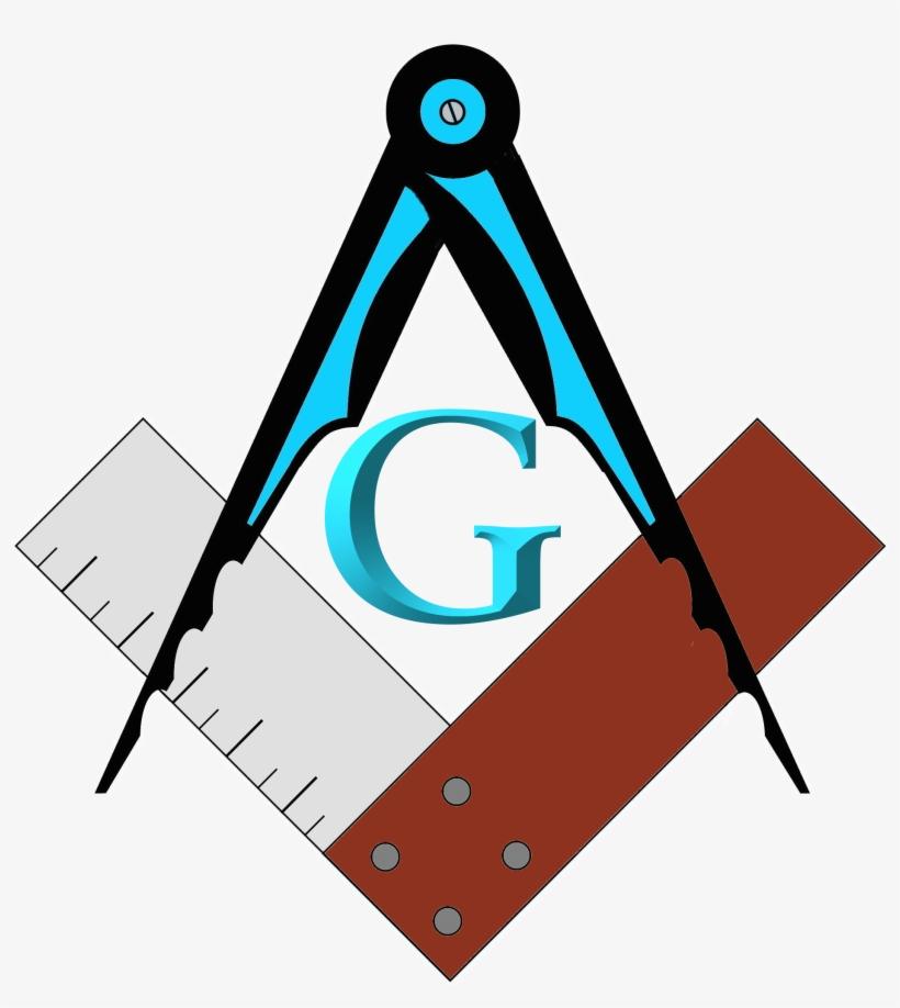 Masonic Square Compass - Masonic Compass Png, transparent png #156012