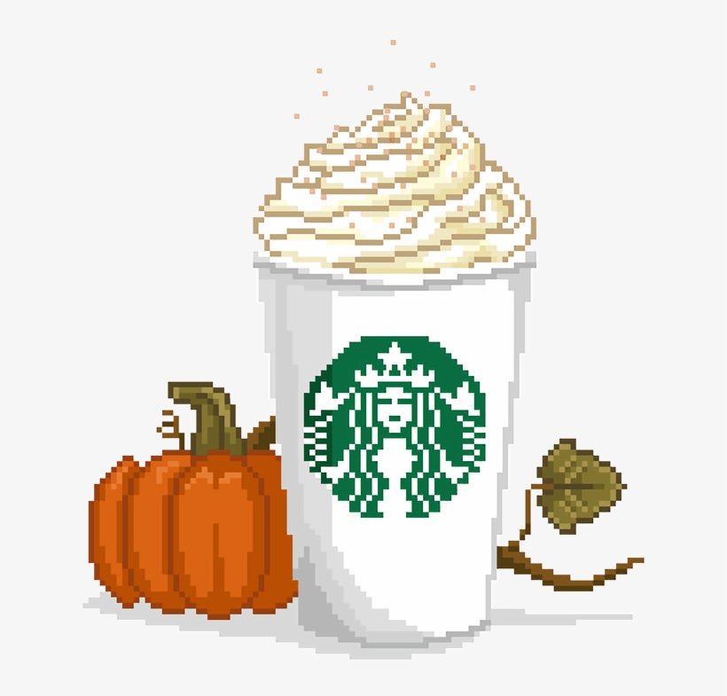 Starbucks Pumpkin Spice Latte Png Clip Black And White - Pumpkin Spice Latte Pixel Art, transparent png #156106