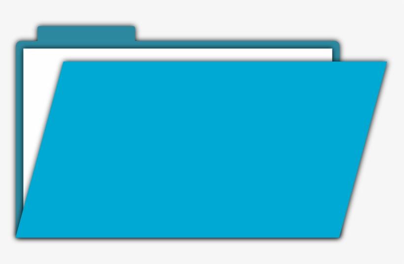 Blue Folder - Clipart Folder, transparent png #156620
