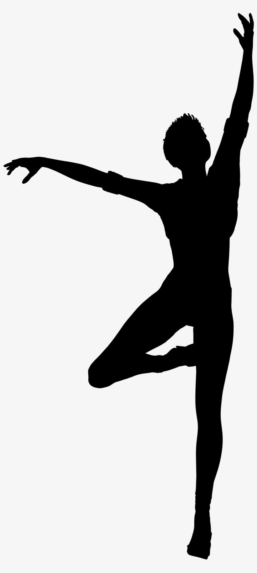 Clipart - Dancing Woman Silhouette, transparent png #156854