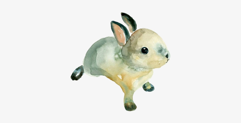 Watercolor Bunny - Easy Simple Watercolor Animals, transparent png #157222