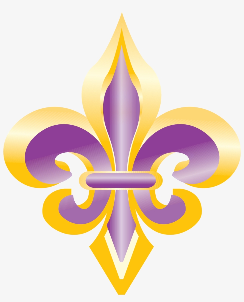 Purple And Gold Fleur De Lis Clip Art - Fleur De Lis #3, transparent png #157313
