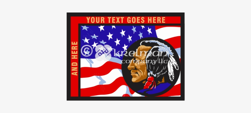 K1505 American Flag And Native American - Flag Of The United States, transparent png #157583