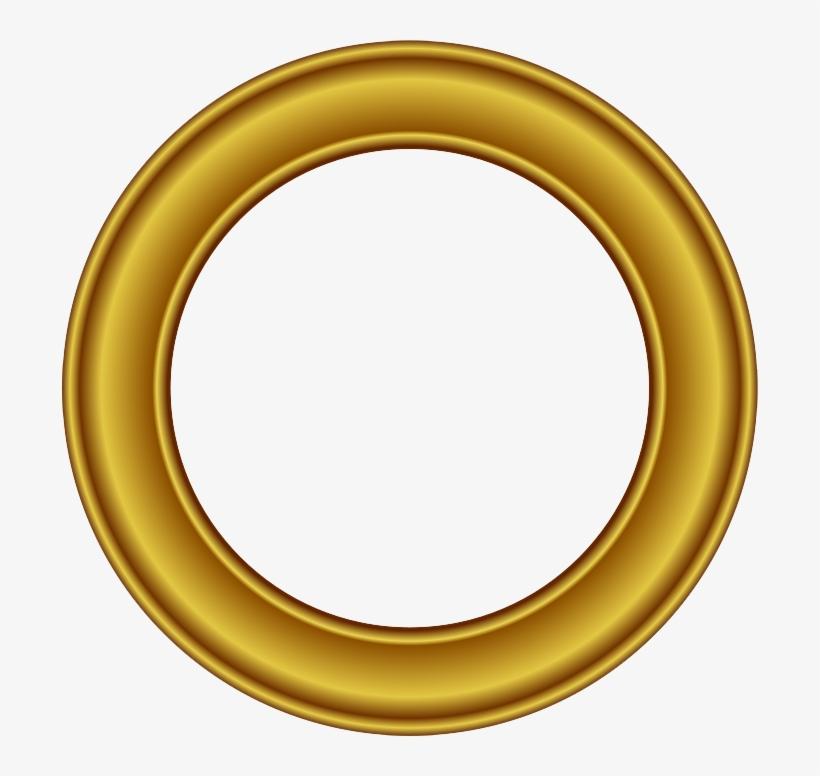 Golden Round Frame Png Free Download - Golden Round Frame Png, transparent png #157640