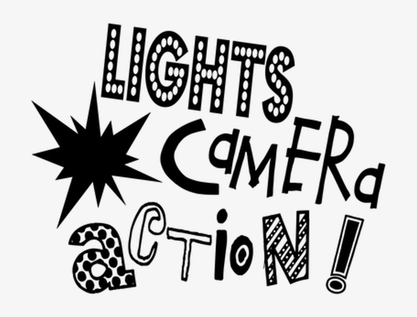 Photo Camera Clipart Word Art - Lights Camera Action Words, transparent png #157907
