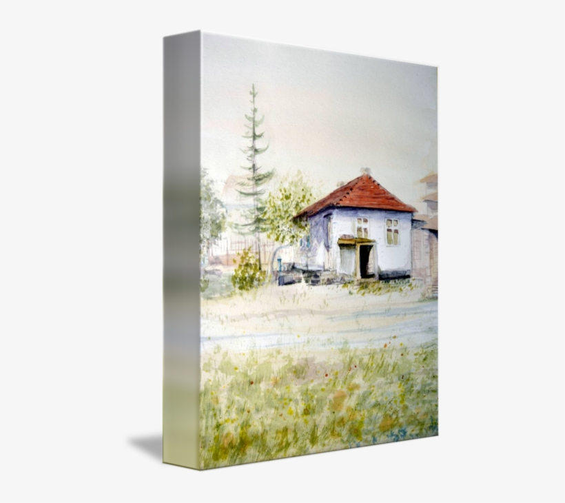 Library Old House Serbia Original Art By Nenad - Watercolor Painting, transparent png #158113