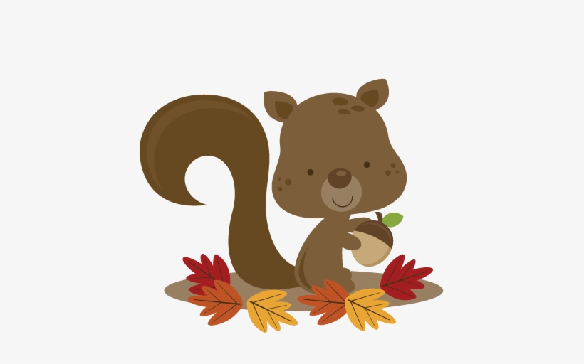 Fall Squirrel Svg File For Scrapbooking Cardmaking - Fall Clip Art Squirrel, transparent png #158643