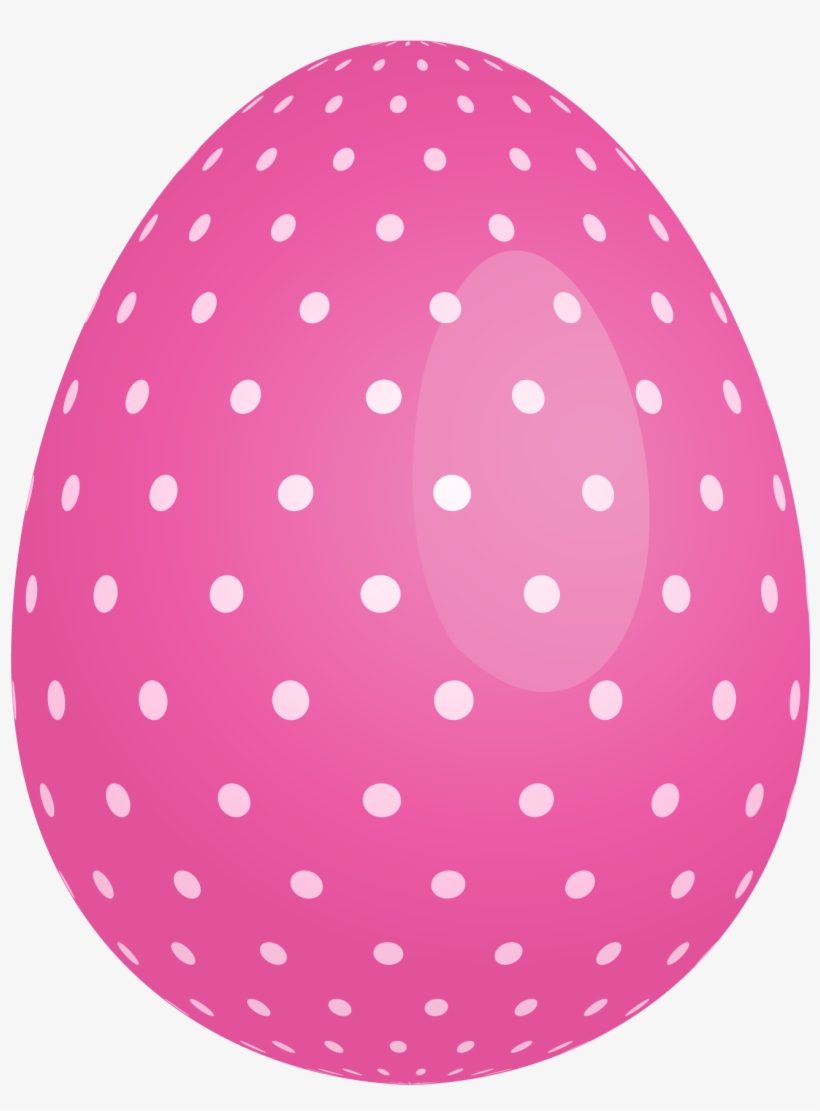 Pink Dotted Easter Egg Png Clipart - Easter Egg Clipart Png, transparent png #158801