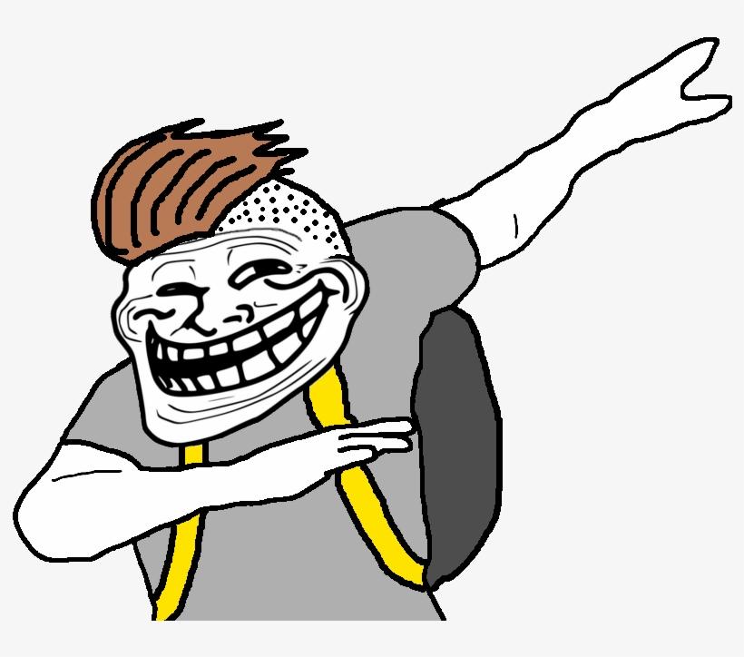 View Samegoogleiqdbsaucenao Zoomer Trollface Dab , - You U Mad Internet Meme Pin Back Button Badge, transparent png #158923